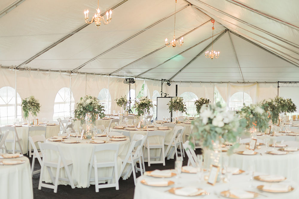 Cypress Grove Estate House, Tented Reception, White Wedding Decor, Orlando Wedding Venues, Central Florida Wedding Venues, Lakeside Wedding, Outdoor Wedding, Elegant Wedding