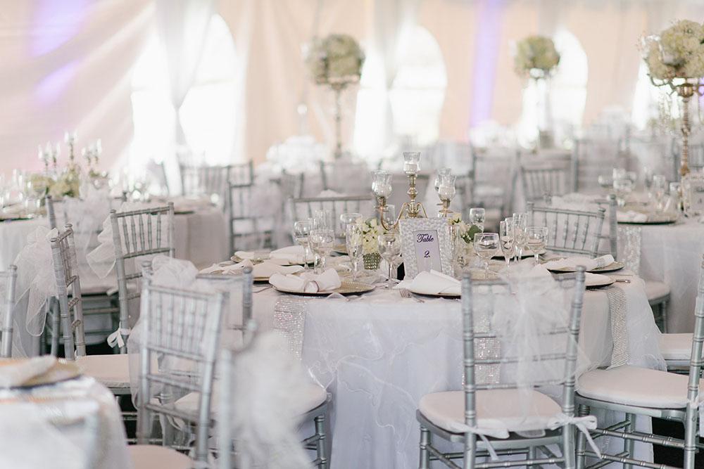 Cypress Grove Estate House Tented Reception White Wedding Decor Orlando Venues