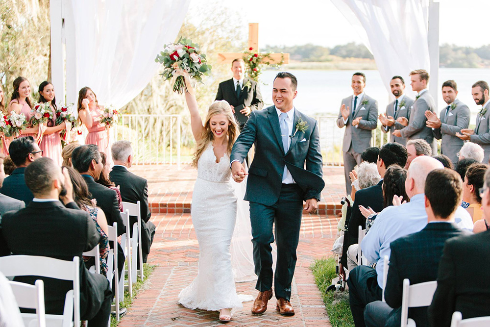 Estate house wedding, lakeside wedding, Central Florida Wedding Venues, orlando wedding ceremony, florida wedding, Religious Ceremony, Bride and Groom Photos, southern wedding, ceremony decor, gazebo draping