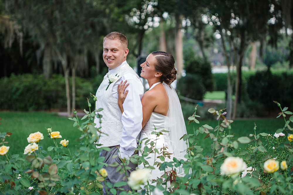Cypress Grove Estate House, Orlando Wedding, Lakeside Wedding, Bridal Gown, Outdoor Wedding, Central Florida Wedding Venues,. Rose Garden, Bride and Groom Photos