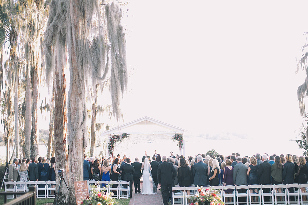 Cypress Grove Estate House, Orlando Wedding Venues, Central Florida Wedding Venues, Lakeside Wedding, Outdoor Wedding, Southern Wedding, Rustic Wedding, Spanish Moss, Cypress Trees, White ceremony chairs, gazebo ceremony, boho wedding, bohemian wedding