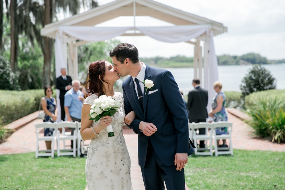 Cypress Grove Estate House, Orlando Wedding Venues, Lakeside Wedding, Lakeside Ceremony, Destination Wedding, White Wedding Decor, Intimate Wedding, Ceremony Draping