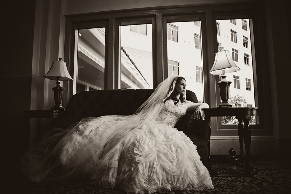 Orlando Event Stylist, Orlando Event Designer, Orlando Wedding, Ballroom Wedding, Couture Bridal Gown, Black and White Bridal Portrait, Bridal Portrait, Bridal Session, orlando wedding stylist, orlando wedding designer