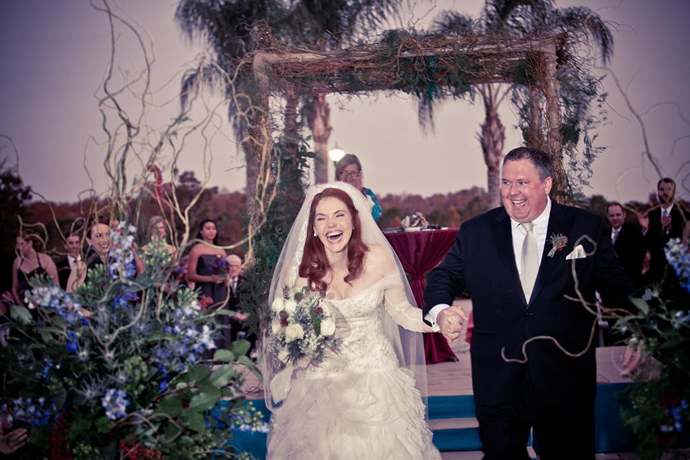 Orlando Event Stylist, Orlando Event Designer, Orlando Wedding, Ballroom Wedding, Outdoor Wedding, Custom Ceremony Arch, Blue Wedding Flowers, Custom Ceremony Floral Arrangements, Bride and Groom Photos, orlando wedding stylist, orlando wedding designer