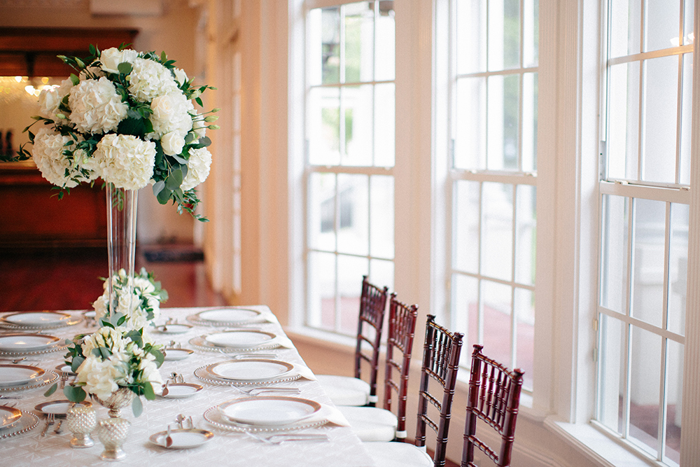 Luxmore Grande Estate, Central Florida Wedding Venue, Orlando Wedding Venue, Luxury Orlando Wedding, Ballroom Wedding, Wedding Floral, Mahogany Chiavari Chairs, Wedding Floral, bentley ivory linen, over the top linen rentals. orlando linen rentals, white hydrangea, white centerpieces, tall centerpieces, orlando wedding stylist, orlando wedding designer