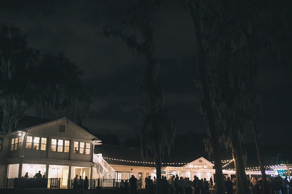 Cypress Grove Estate House, Outdoor Wedding, Lakeside Wedding, Central Florida Wedding Venues, Orlando Wedding Venues, Market lighting, evening reception, Southern Wedding