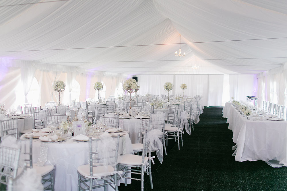 Cypress Grove Estate House, Orlando Wedding, Lakeside Wedding, Tent Wedding, Tent Reception, White Wedding, White Wedding Decor, Elegant Wedding, Clear Chiavari Chairs,
