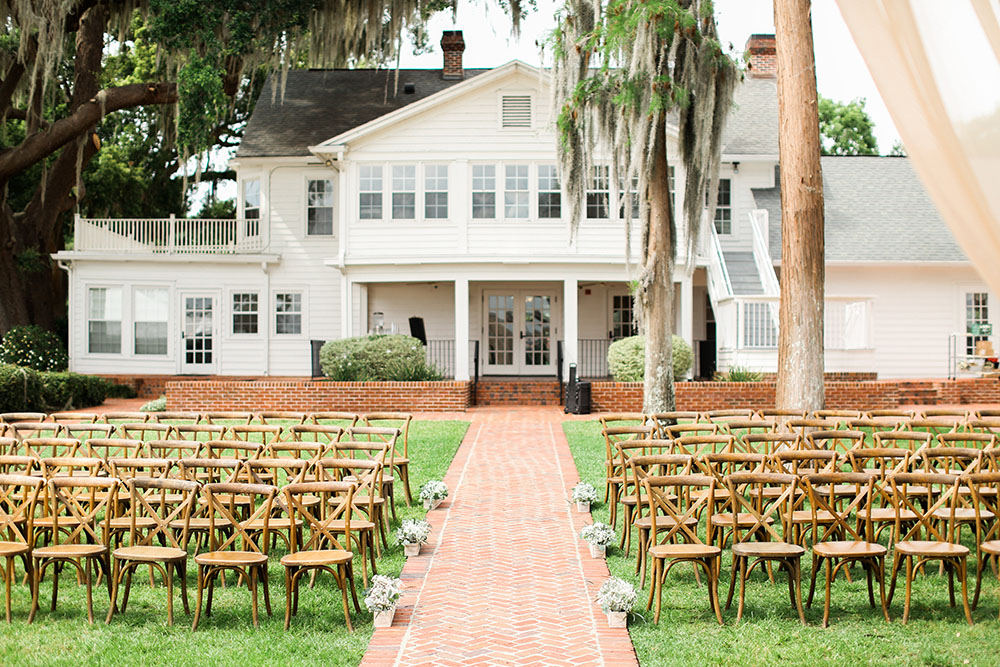 Cypress Grove Estate House Lakeside Ceremony