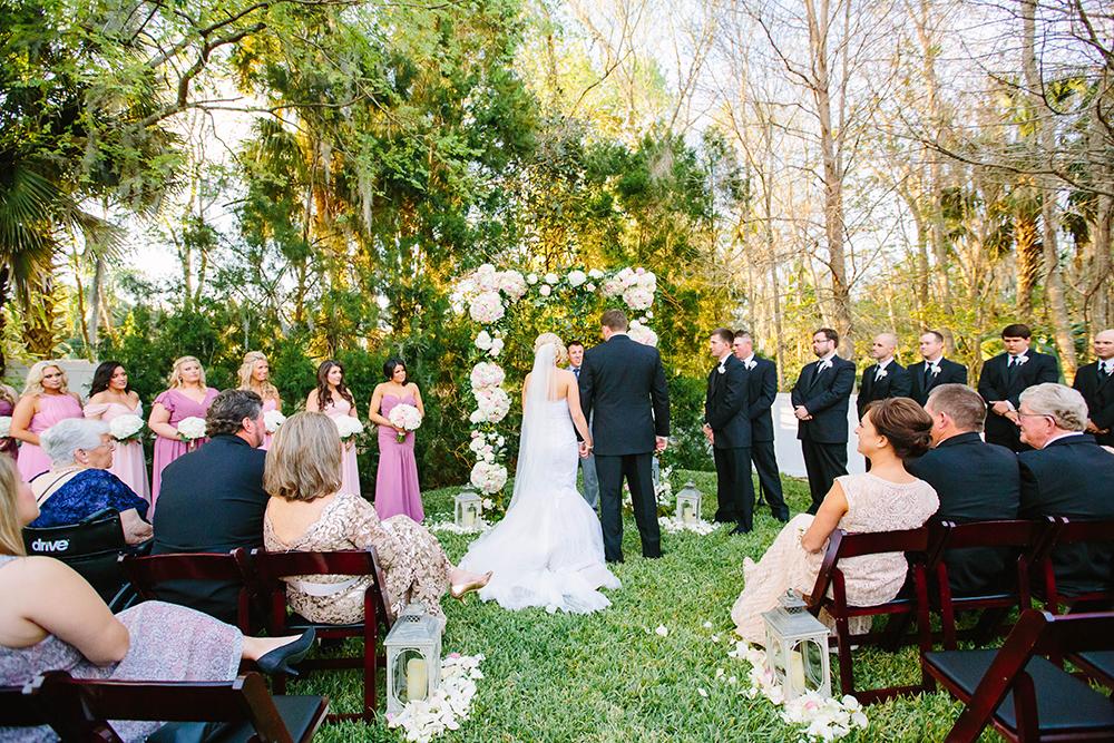 garden ceremony, orlando intimate wedding, outdoor venue