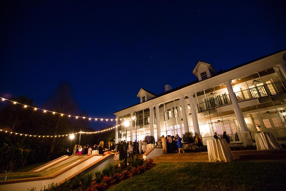 Cocktail hour, market lighting, orlando luxury wedding venue, orlando private event venue, event rentals, luxury estate wedding