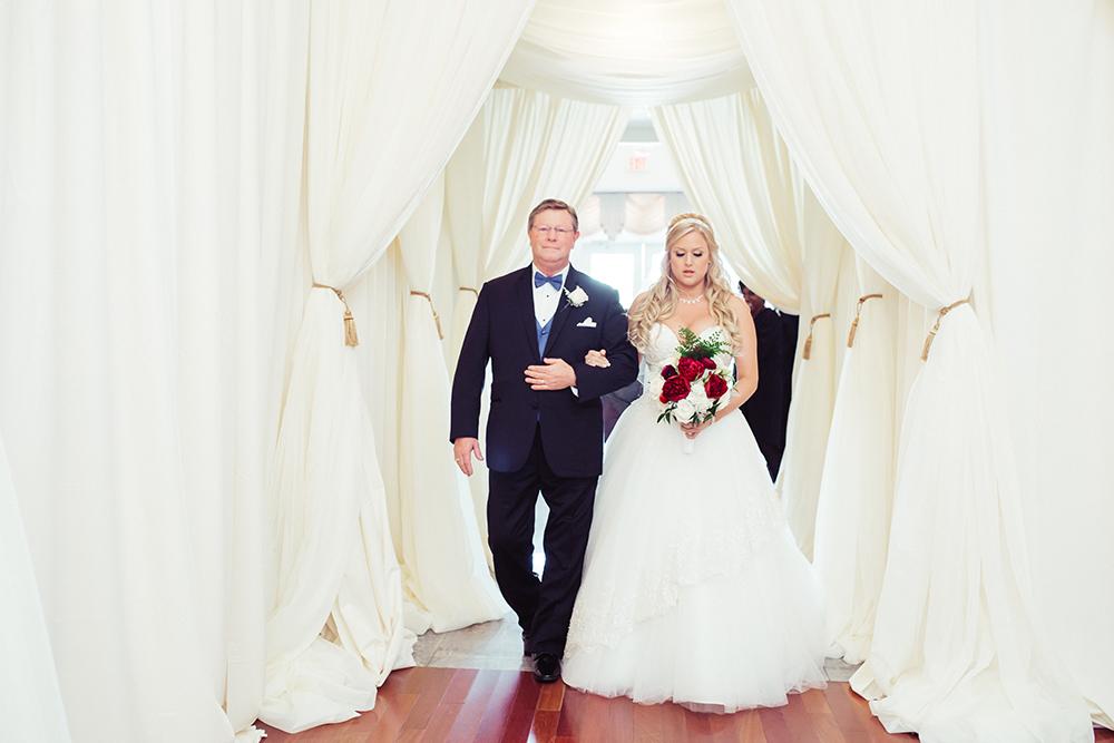 Ballroom wedding, ballroom ceremony, indoor wedding venue, ceremony draping, orlando wedding venue