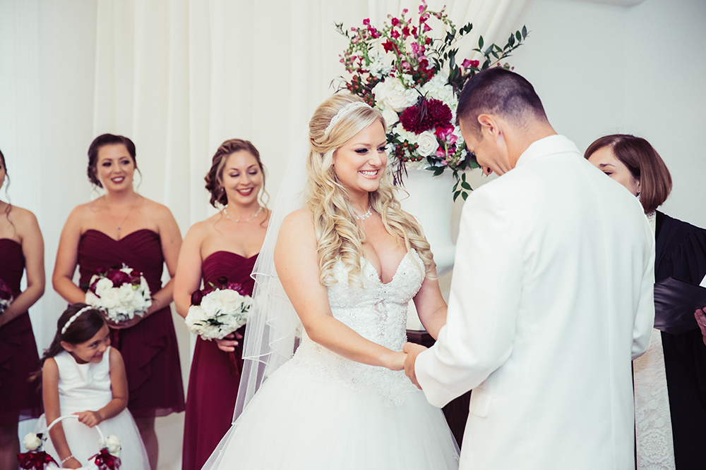 Ballroom ceremony, luxury wedding venue, central florida wedding venue,