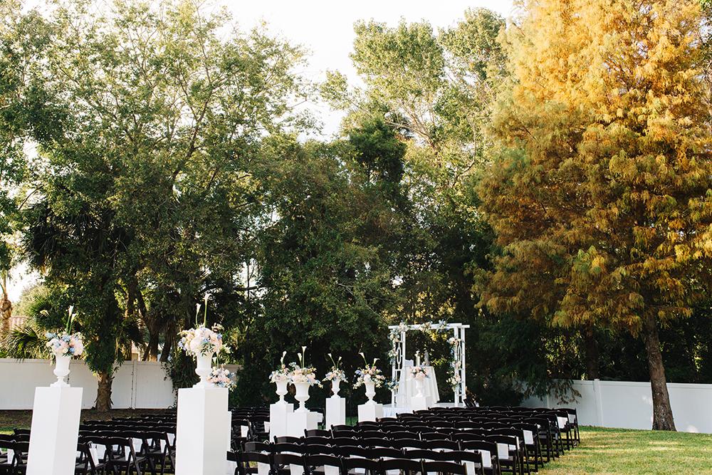 Garden Wedding, outdoor venue, indoor venue, orlando wedding venue, ceremony decor,