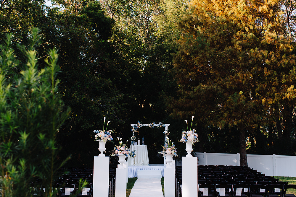 Garden Wedding, outdoor venue, indoor venue, orlando wedding venue, ceremony decor,