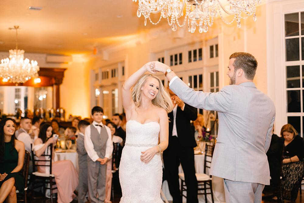 ballroom wedding, estate wedding, luxury wedding, first dance, elegant wedding, central florida wedding venue, orlando wedding venue