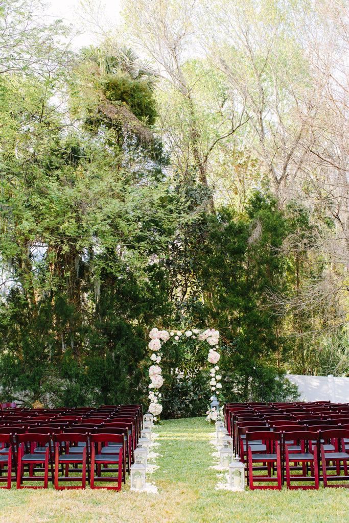 Luxmore grande ceremony, luxmore ceremony, jesup garden, outdoor ceremony, outdoor venue