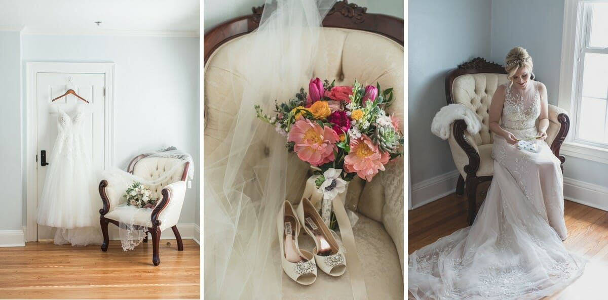 The Cypress Grove Estate House bridal suite features stunning antique furniture, perfect for featuring in your bridal portraits.