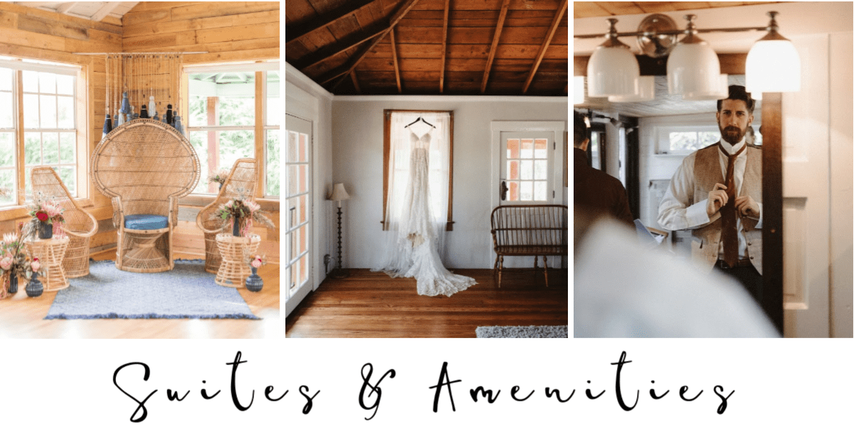 The Acre's bridal suite is spacious and overlooks the grounds.
