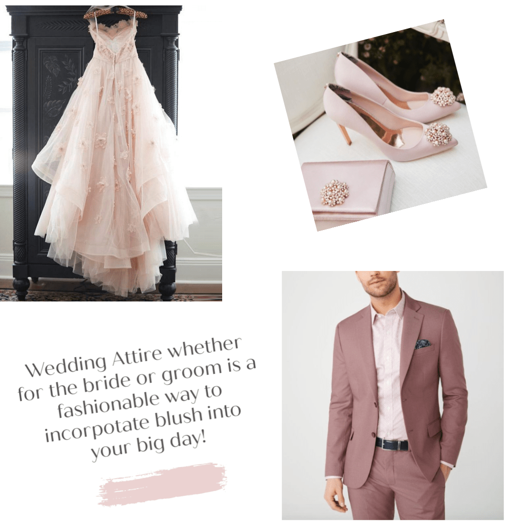 Who doesn't love a blush wedding gown!? It's subtle but oh, so feminine. Not a fan of colored gowns? Try pairing the traditional white or ivory gown with blush shoes, or have your groom wear a fashion-forward blush or mauve suit.