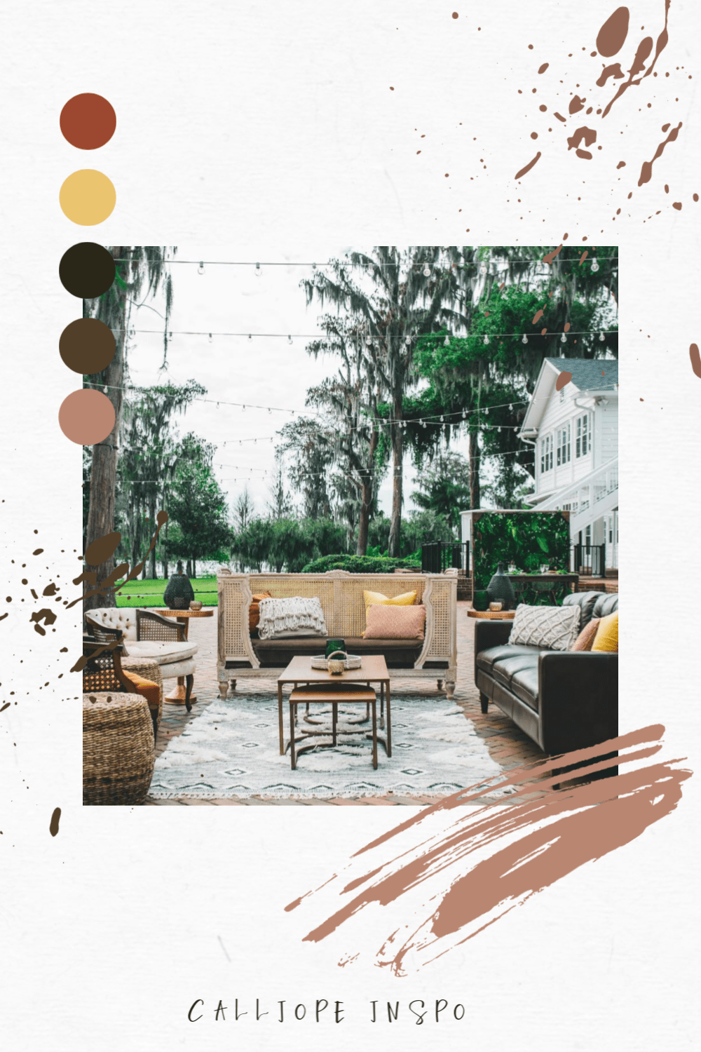 Calliope :: Featured at Cypress Grove Estate House with a neutral color palette social lounge.
