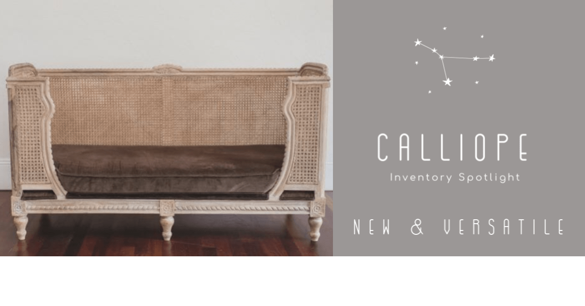Calliope :: A boho inspired day bed for weddings and social events.