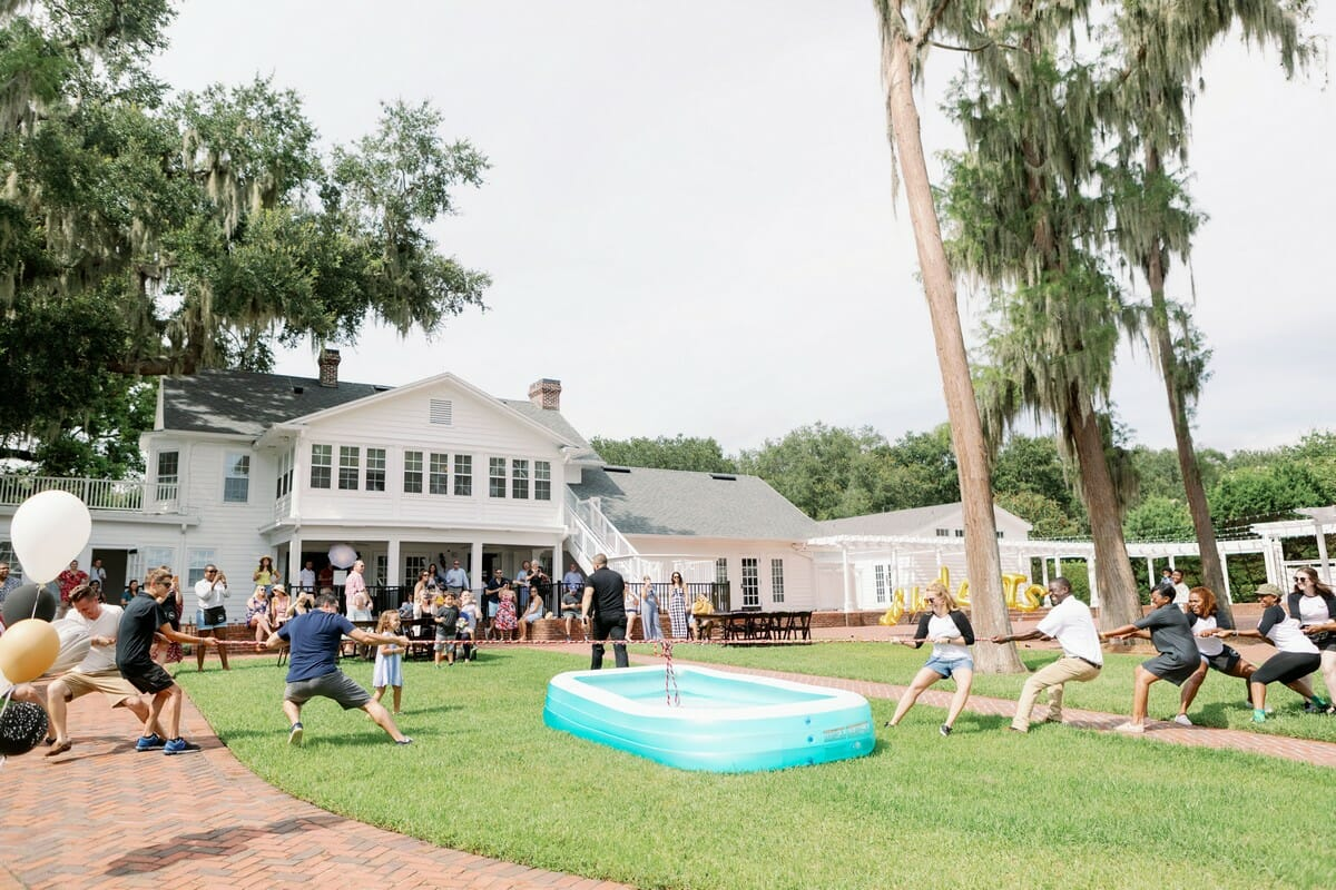 The Estate House at Cypress Grove was the perfect location for our event. The green space became home to games, food trucks, and more! The RW Events team went up against clients in a tug-of-war to end the event.