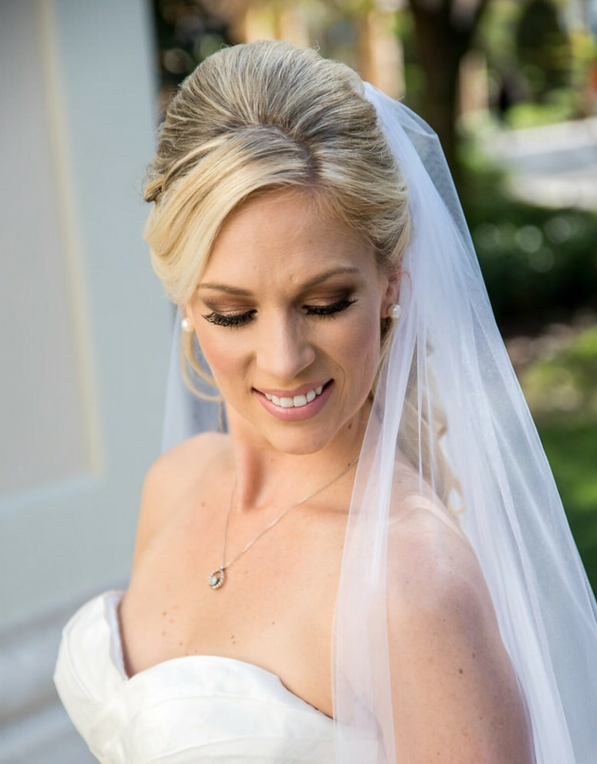 Be sure to bring your wedding day accessories to your beauty trial.