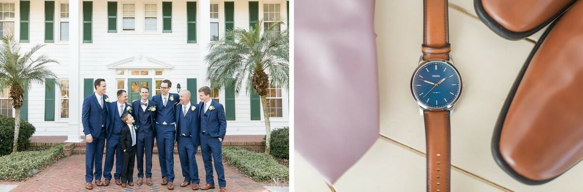 Navy suits will always be a classic when it comes to groomsmen attire.