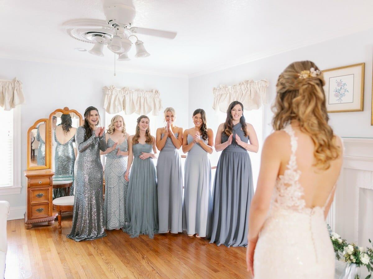 Mismatched Slate Bridesmaid Dresses