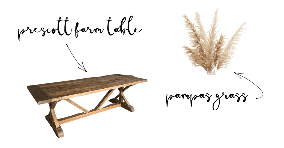 Fall Wedding Inspiration | Farm Tables and Pampas Grass